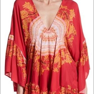 NWT Free People Sunset Dreams ruffle top size S